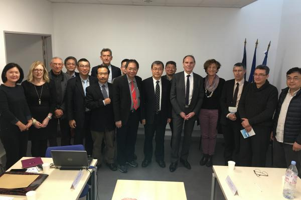 NSYSU delegation and the president and staff of Aix-Marseille University