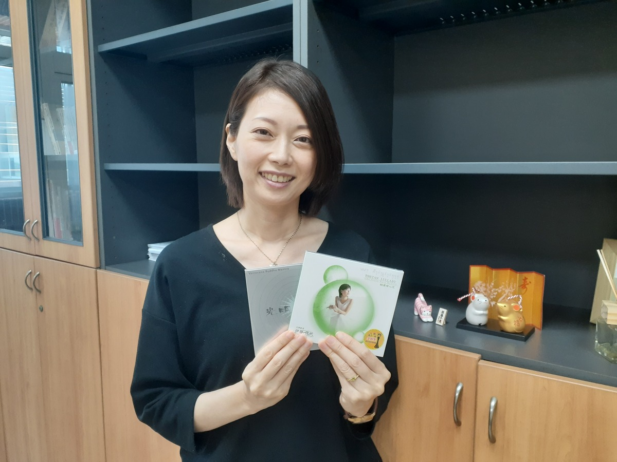 Assistant Professor Kayo Ito with her album that arrived to the finals of Golden Melody Awards for Best Religious Music Album