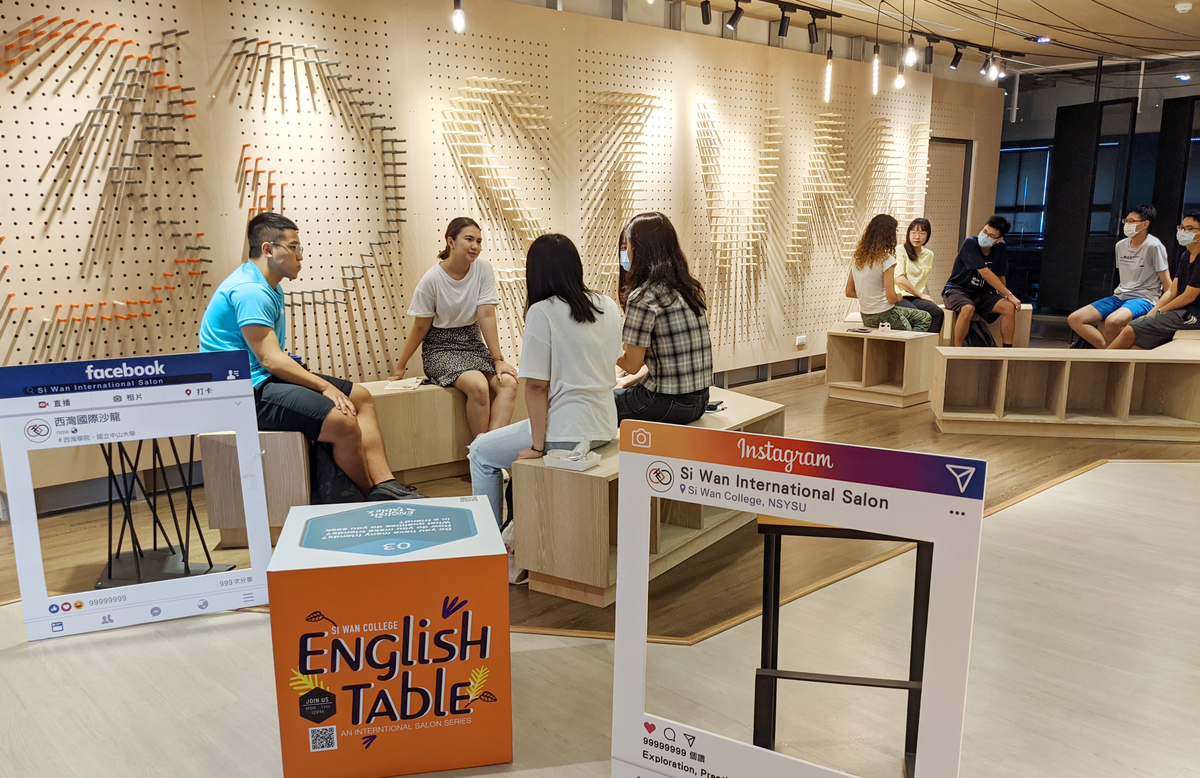 Si Wan International Salon has created a lively environment for bilingual learning on campus.